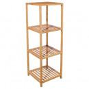 grossiste Meubles de salle de bains & accessoires: etagere bambou 4 niveaux, beige