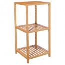 grossiste Meubles de salle de bains & accessoires: etagere sale de bain bambou 3 niveaux, beige