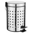 cubo de basura de acero inoxidable 3 l, plata