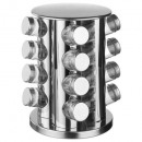 wholesale Houshold & Kitchen: pot spicesx16 + rotating support, silver
