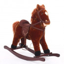 cheval a bascule, marron