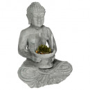 wholesale Figures & Sculptures: buddha cement + access gm, gray
