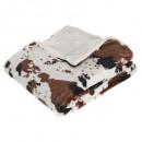 cow plaid 130x160, white