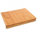 bamboo cutting board + edge, beige