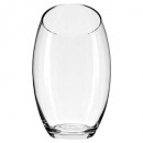transparent clear bomb vase h24, transparent