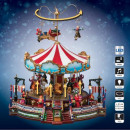 christmas village carousel lm
