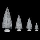Accesorios pueblo navideño abetos x 10 blanco
