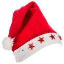 cp led adult santa claus star felt