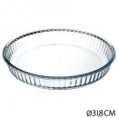 flat round glass 32cm, transparent