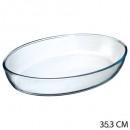 plat ovale verre 35x25, transparent