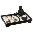 zen garden + statue 24x16, 2- times assorted , col