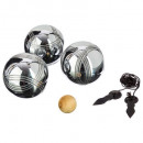 wholesale Outdoor Toys: petanque balls x3, 4- times assorted , colorless