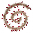 wholesale Gifts & Stationery: frosty leaf garland 150x4x2m, 3- times assorted