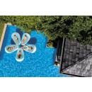 Lounge bloemblad zwembad, lichtblauw