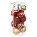 christmas ball 50 mm x 15 - smooth / deco