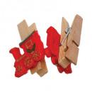 ingrosso Bagno: pinza in legno resine x12, 4- volte assortito