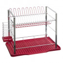 metal drainer 2niv red, red