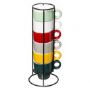 tasse sur rack x6 colorama 5cl, multicolore