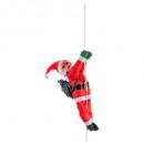 dekoracja Święty Mikołaj wspinacz miękki 60cm + li