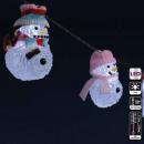 Girlande Indoor 8 Weihnachtskugel Acry blinkt