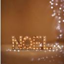 decoración interior navidad madera 41 led pila