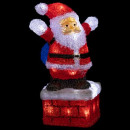 outdoor lighting Santa Claus fireplace 40led h30cm