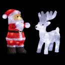 wholesale Home & Living: outdoor lighting x2 santa claus + rn 60led h28