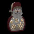 Holzdekoration Weihnachtsmann / Weihnachtskugel
