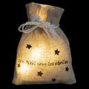 leuchtende Weihnachtsdekoration Tasche Worte führt