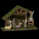 wholesale Figures & Sculptures: christmas crib st 8 santons porcel h20cm