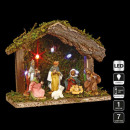 Kerst ledikant licht 5 led + 7 santons