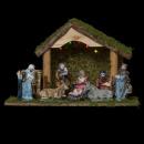 wholesale Figures & Sculptures: christmas crib + 5led + 8sonsons porcelain