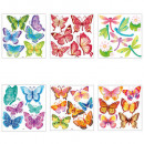 wholesale Wall Tattoos: butterfly relief sticker x6, 6- times assorted , m