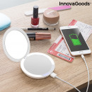 3-in-1 Pocket Mirror with LED and Power Bank Mirba