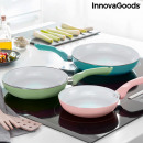 wholesale Pots & Pans: Set of Non-stick Frying Pans with Ceramic Coating