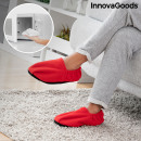 Chaussons Chauffants Micro-ondes InnovaGoods Rouge