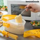 Cuiseur à pâtes micro-ondes 4-en-1 avec accessoire