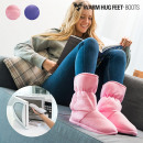 Warm Hug Feet Microwavable Boots - Pink - M
