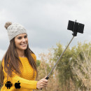 Selfie Stick with Cable - Black
