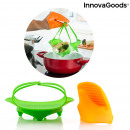 wholesale Pots & Pans: InnovaGoods Silicone Steamer with Mitt
