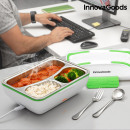 wholesale Lunchboxes & Water Bottles: InnovaGoods Pro Electric Lunch Box 50W White Green