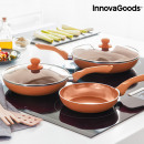 wholesale Burning Stoves: InnovaGoods Copper-Effect Pan Set (5 Pieces)
