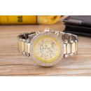 Wristwatch with Date, silbergold