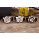 Großhandel Armbanduhren: Mechanische Uhr, schwarz,braun Lederband, weiß, sc