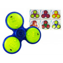 wholesale Toys: Finger fidget  spinner with 3 LEDs & switches