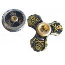 Fingertop fidget spinner crâne métallique