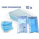 Medizinischer Mundschutz Mundmaske Typ II R, 10er