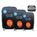 Großhandel Koffer & Trolleys: Reisekoffer schwarz 3er 886