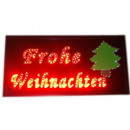 Advertising sign  with LED (Glad Christmas)