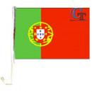 Car flag for Portugal